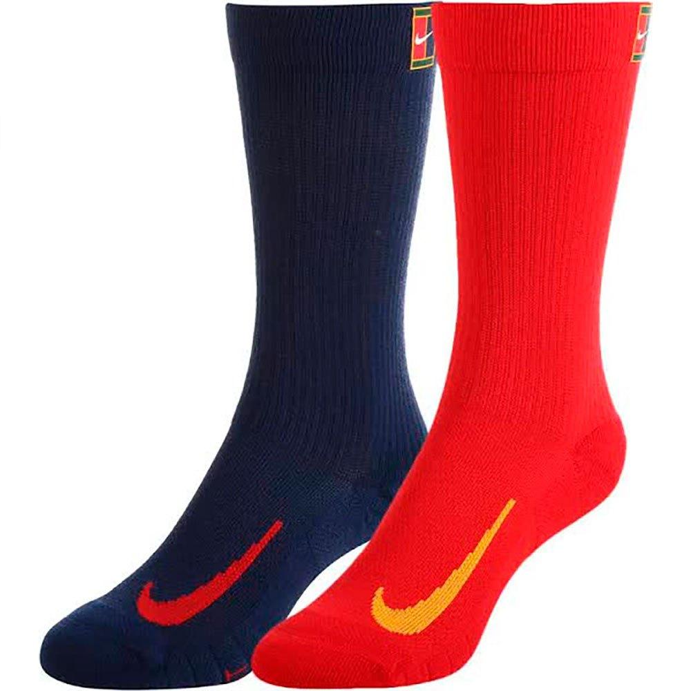 Nike Chaussettes Court Multiplier Cushioned Crew 2 Paires EU 34-38 Multicolor
