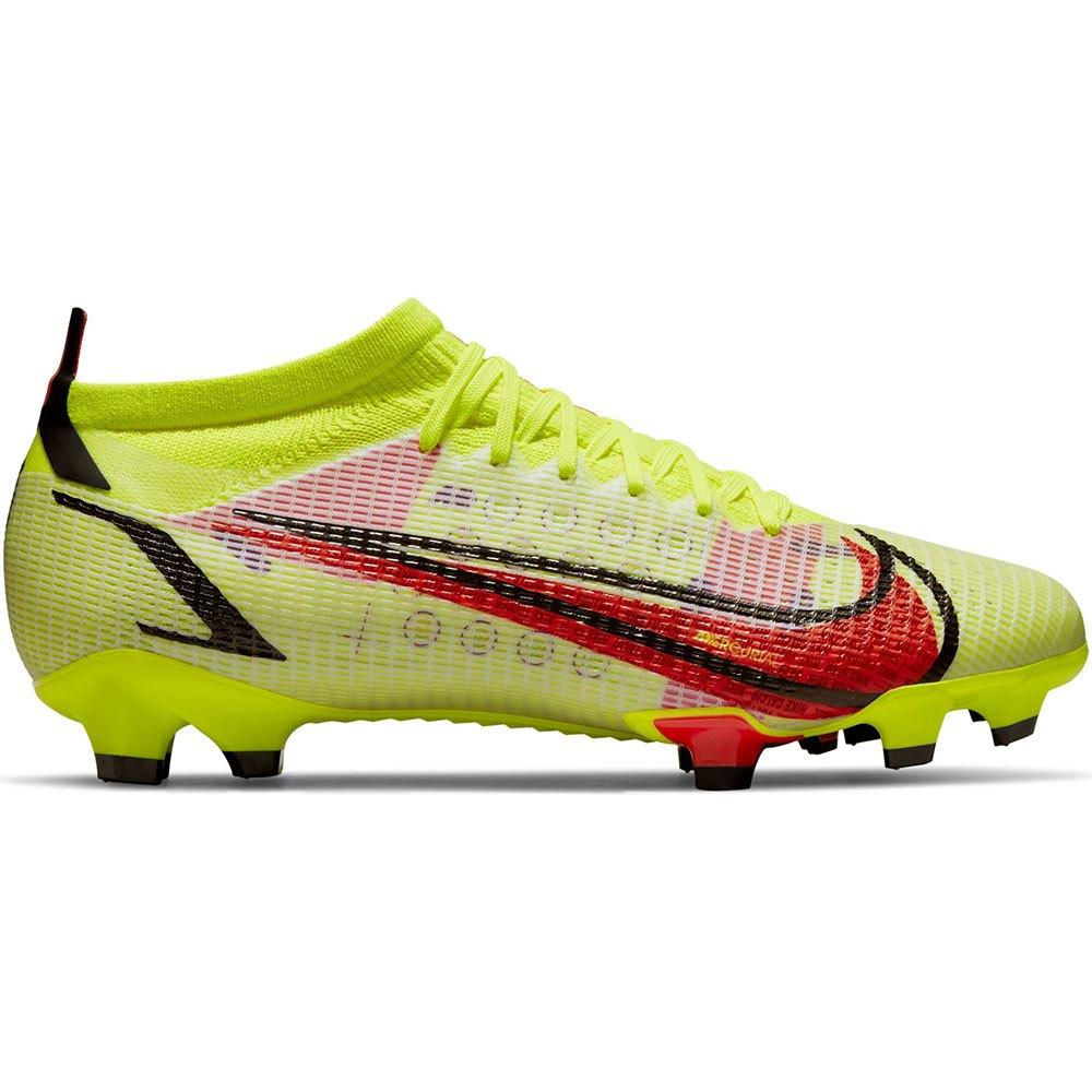 Nike Chaussures Football Mercurial Vapor Pro Xiv Fg/mg EU 40 Volt / Bright Crimson / Black