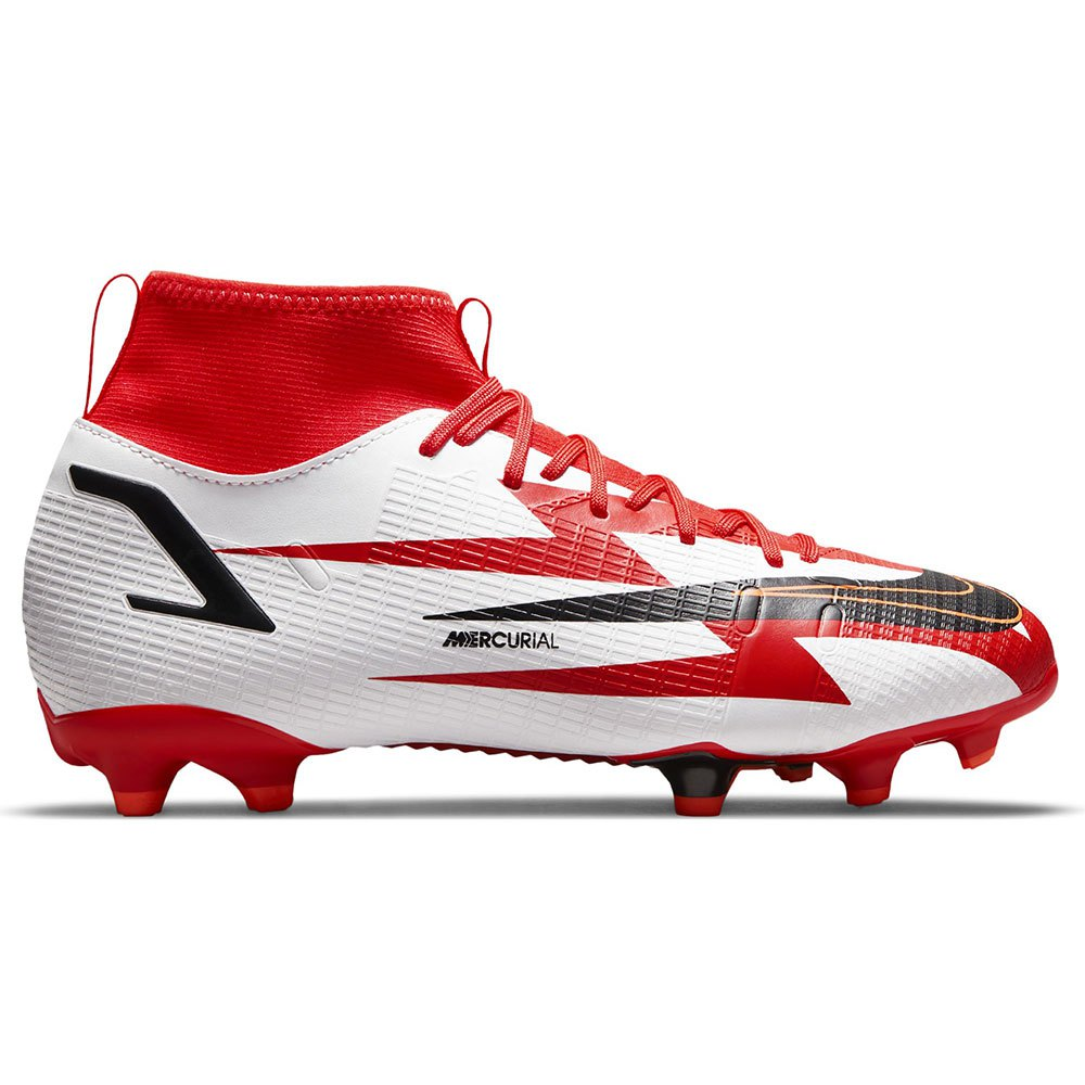 Nike Chaussures Football Mercurial Superfly Viii Academy Cr7 Mg EU 37 1/2 Chile Red / Black / White / Total Orange