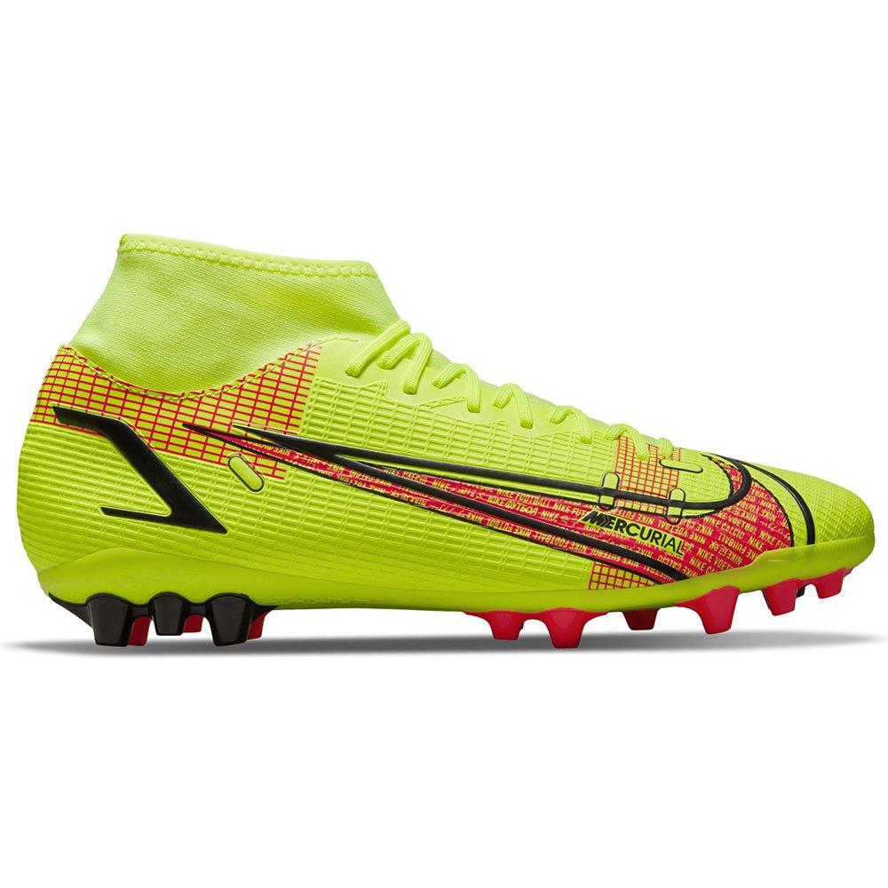 Nike Chaussures Football Mercurial Superfly Viii Academy Ag EU 45 Volt / Black / Bright Crimson