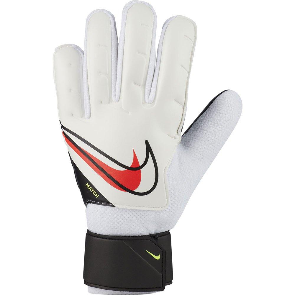 Nike Gants Gardien Match Junior 8 White / Black / Bright Crimson