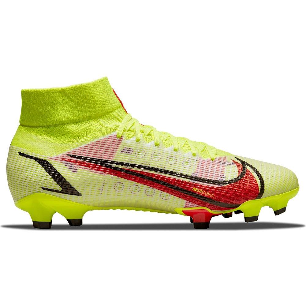 Nike Chaussures Football Mercurial Superfly Viii Pro Fg EU 45 Volt / Bright Crimson / Black