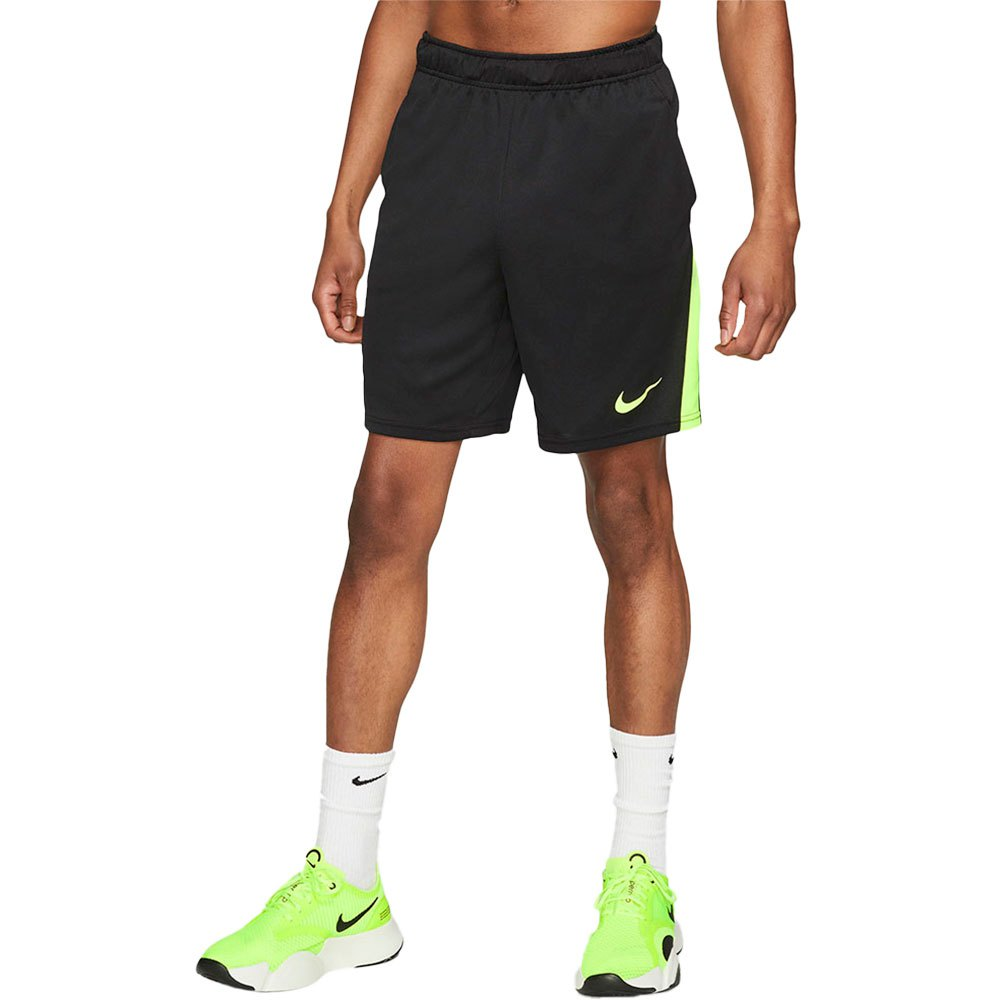 Nike Les Shorts Dri Fit Training M Black / Volt / Volt