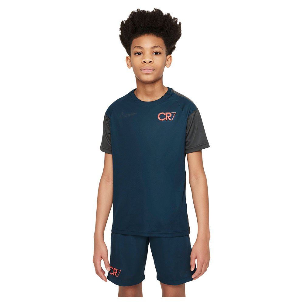 Nike T-shirt Manche Courte Dri Fit Cr7 S Armory Navy / Anthracite / Black