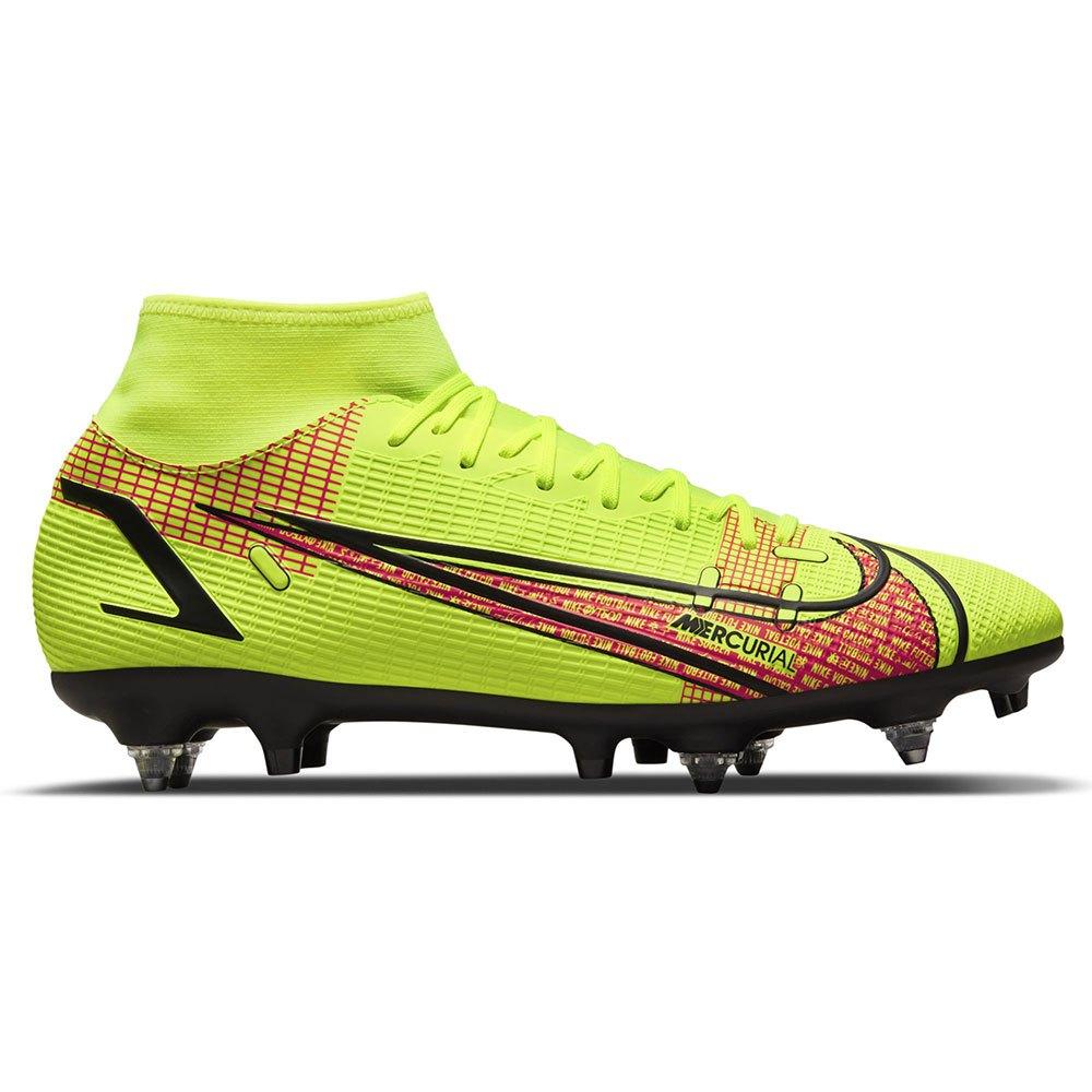Nike Chaussures Football Mercurial Superfly Viii Academy Sg Pro EU 43 Volt / Black / Bright Crimson