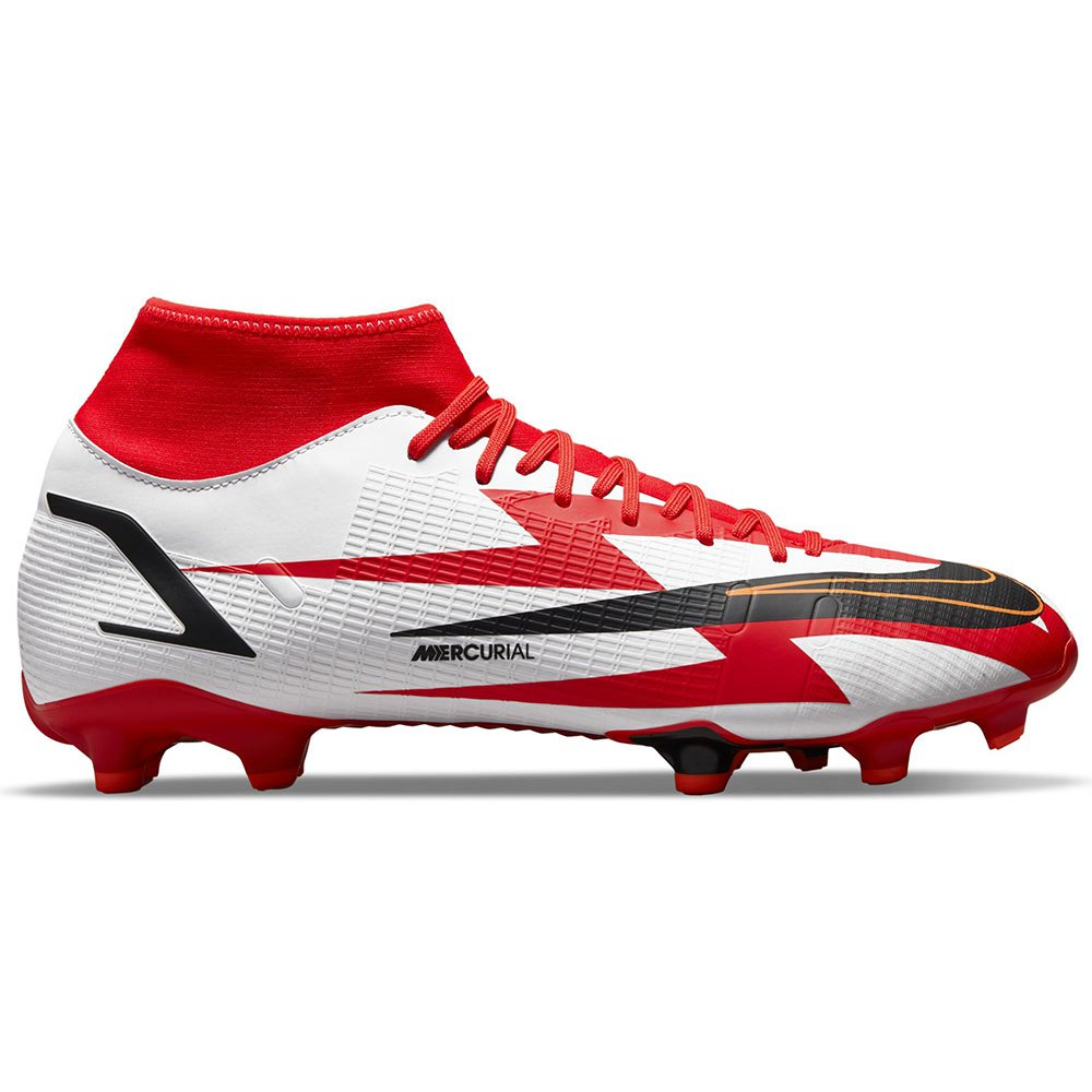 Nike Chaussures Football Mercurial Superfly Viii Academy Cr7 Mg EU 43 Chile Red / Black / White / Total Orange