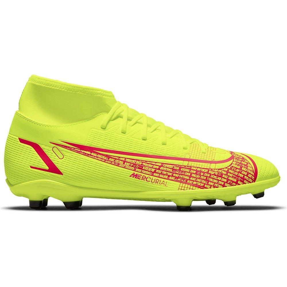Nike Chaussures Football Mercurial Superfly Viii Club Mg EU 43 Volt / Black / Bright Crimson