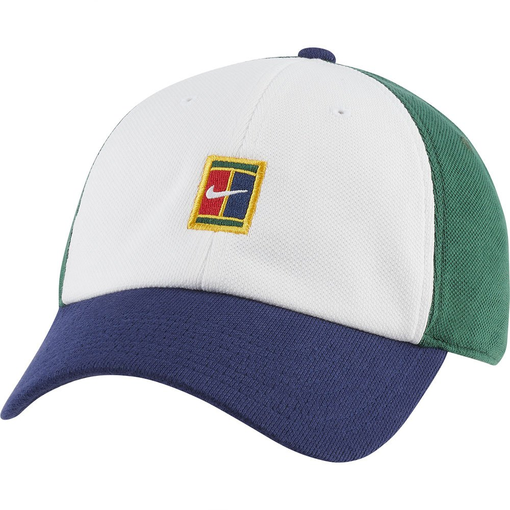 Nike Casquette Court Heritage 86 Logo One Size White / Binary Blue / Gorge Green
