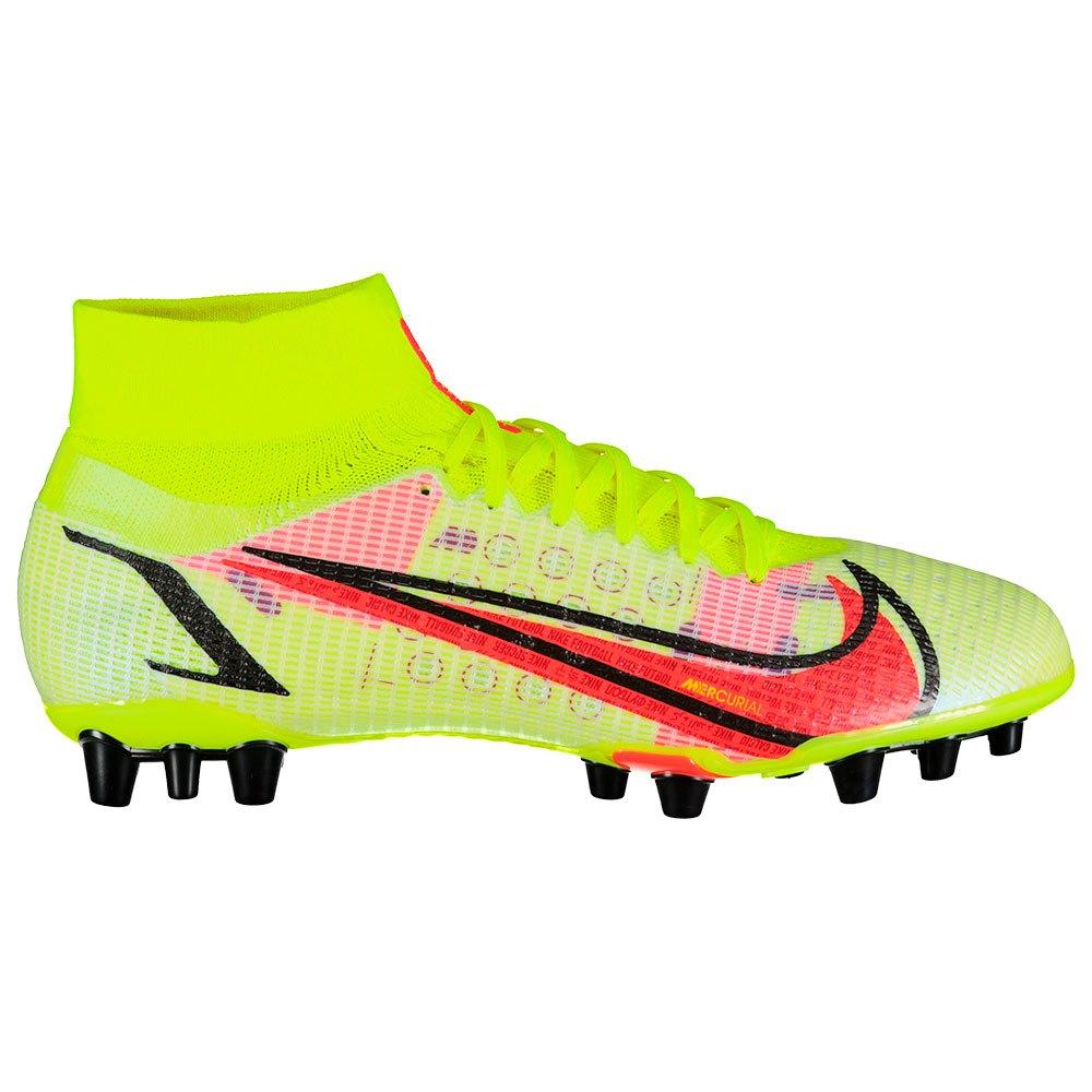 Nike Chaussures Football Mercurial Superfly Viii Pro Ag EU 43 Volt / Bright Crimson / Black