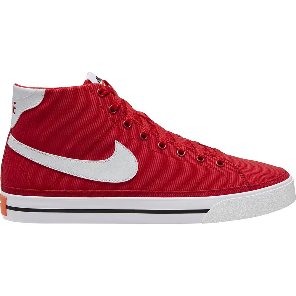 Nike Chaussures Court Legacy Canvas Mid All Court EU 45 University Red / White / Black
