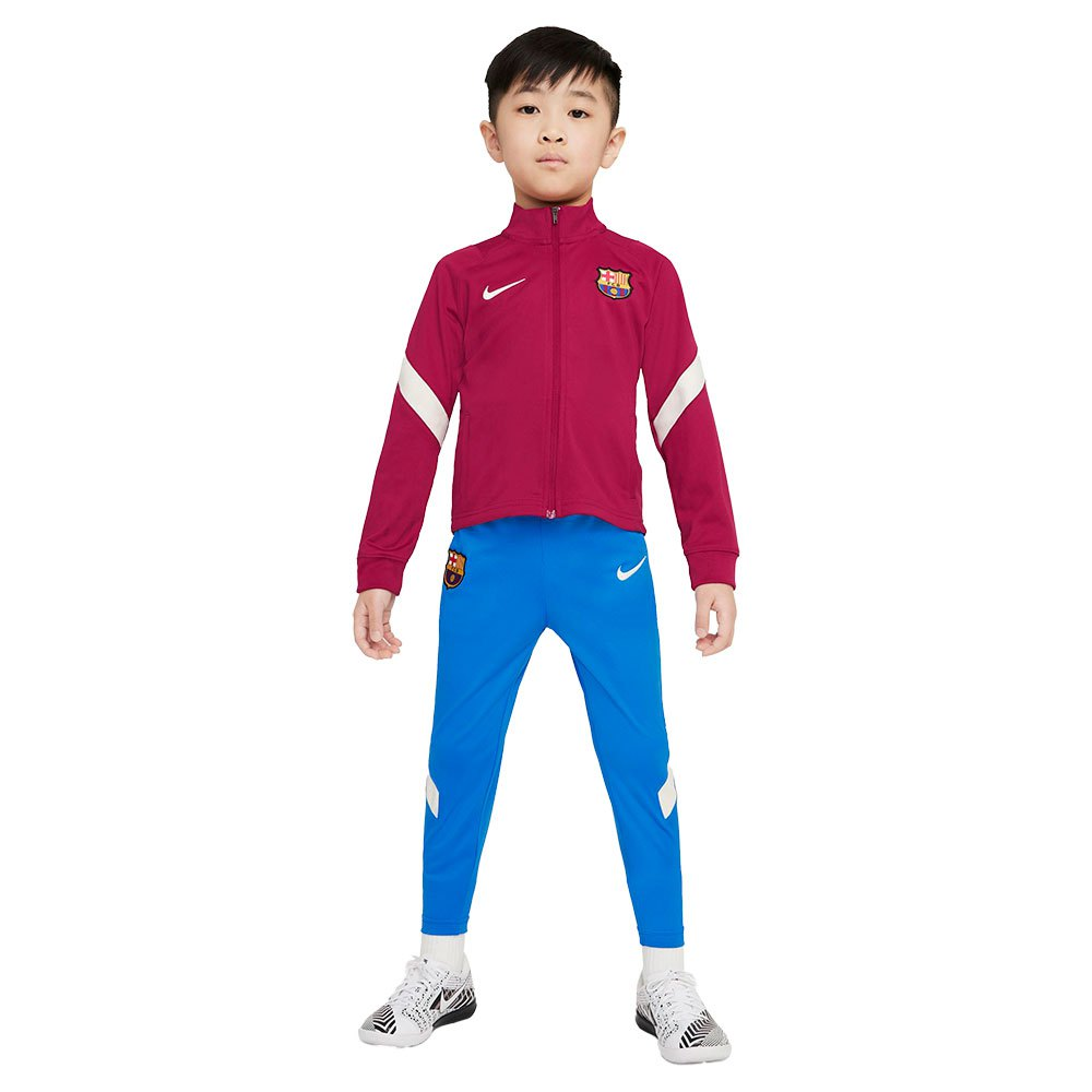 Nike Survêtement Fc Barcelona 21/22 Strike Little Boy Dri Fit S Noble Red / Soar / Pale Ivory / Pale Ivory