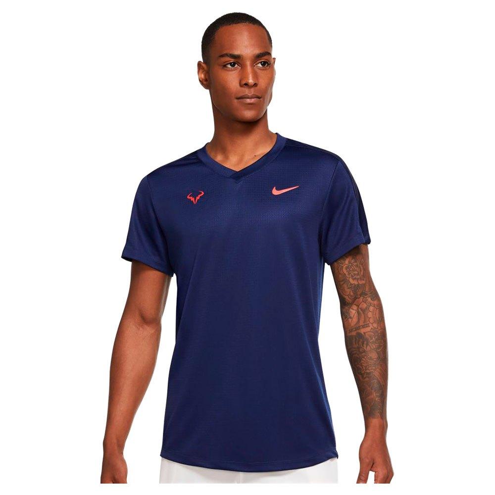 Nike T-shirt Manche Courte Court Rafa Challenger S Binary Blue / Chile Red