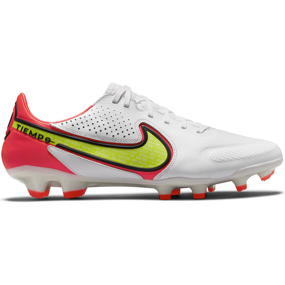 Nike Chaussures Football Tiempo Legend Ix Pro Fg EU 40 White / Volt / Bright Crimson