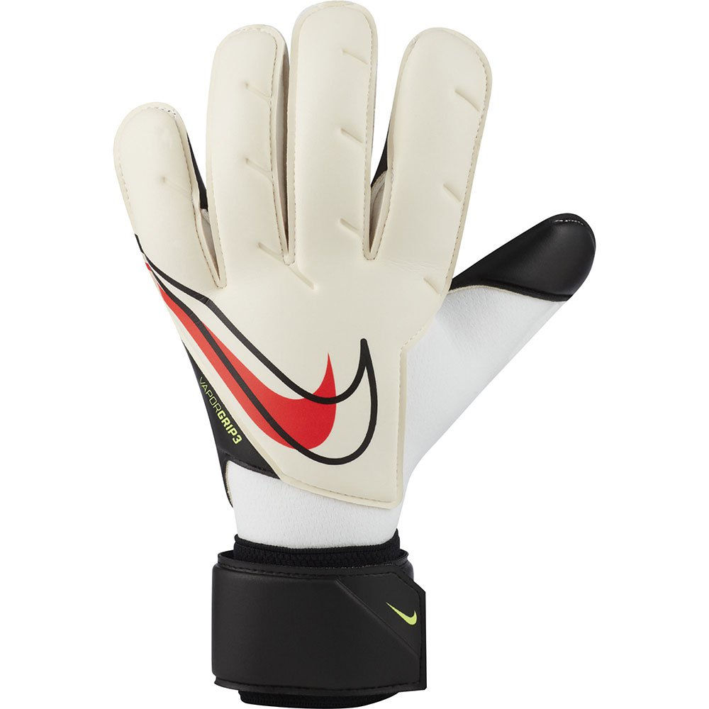 Nike Gants Gardien Vapor Grip 3 Junior 7 White / Black / Bright Crimson