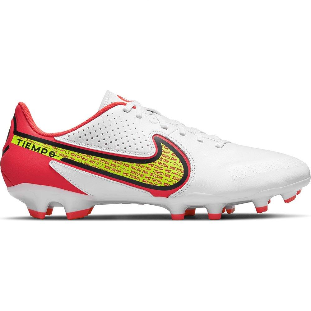 Nike Chaussures Football Tiempo Legend Ix Academy Fg/mg EU 45 White / Volt / Bright Crimson