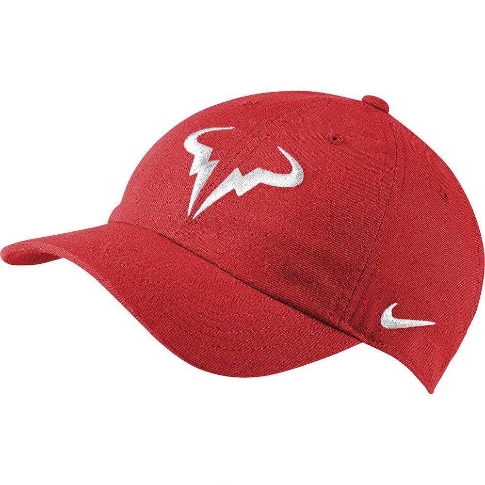 Nike Casquette Court Aerobill Rafa Heritage 89 One Size Chile Red / White
