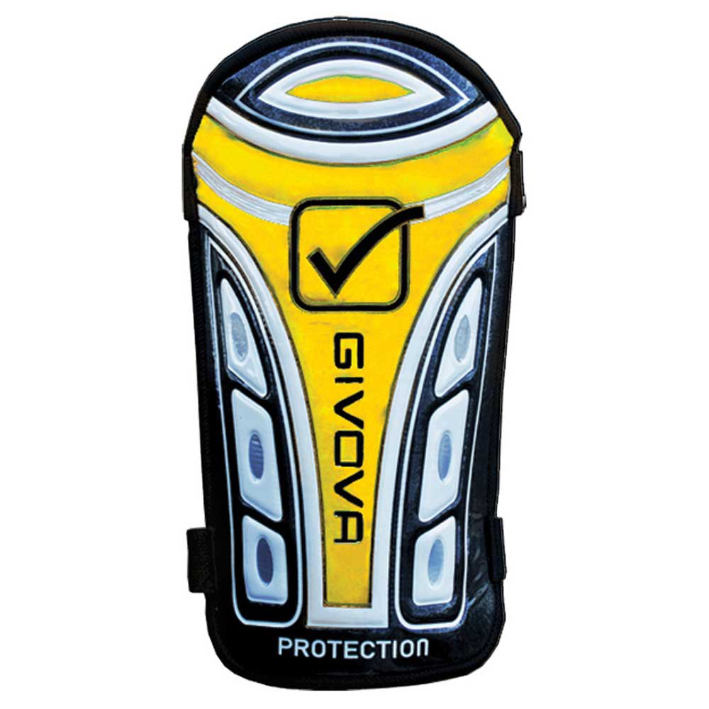 Givova Protège-tibias De Football Protection Adulte One Size Black / Yellow