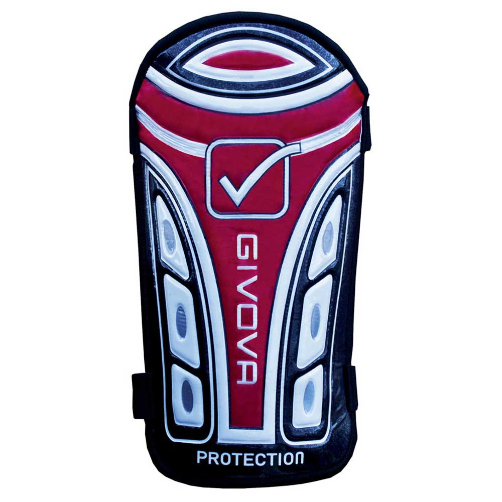 Givova Protège-tibias De Football Protection Adulte One Size Black / Red