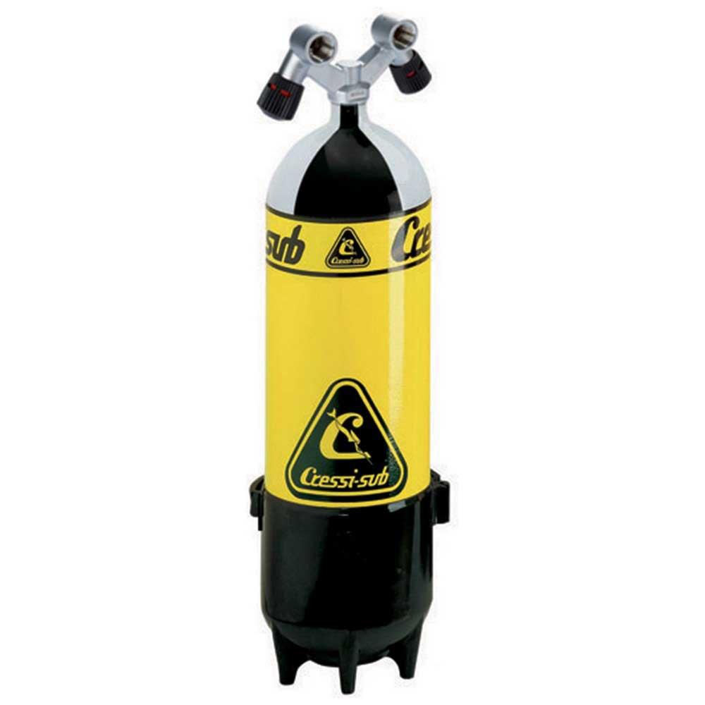 Cressi Mono Tauchflaschen Doppelventil 18l 220 Bar Sauerstoffflaschen Mono Tauchflaschen Doppelventil 18l 220 Bar