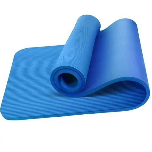 Oemla Esterilla Yoga Antideslizante Entrenamiento 60x190 Cm Azul One Size