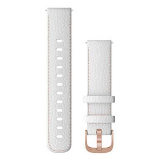 Garmin Bracelet Cuir Quick Release 18mm One Size White / Rose Gold