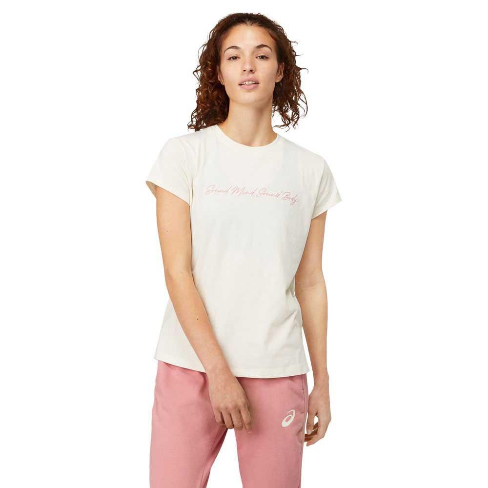 Asics T-shirt Manche Courte Smsb Graphic Ii XS Birch