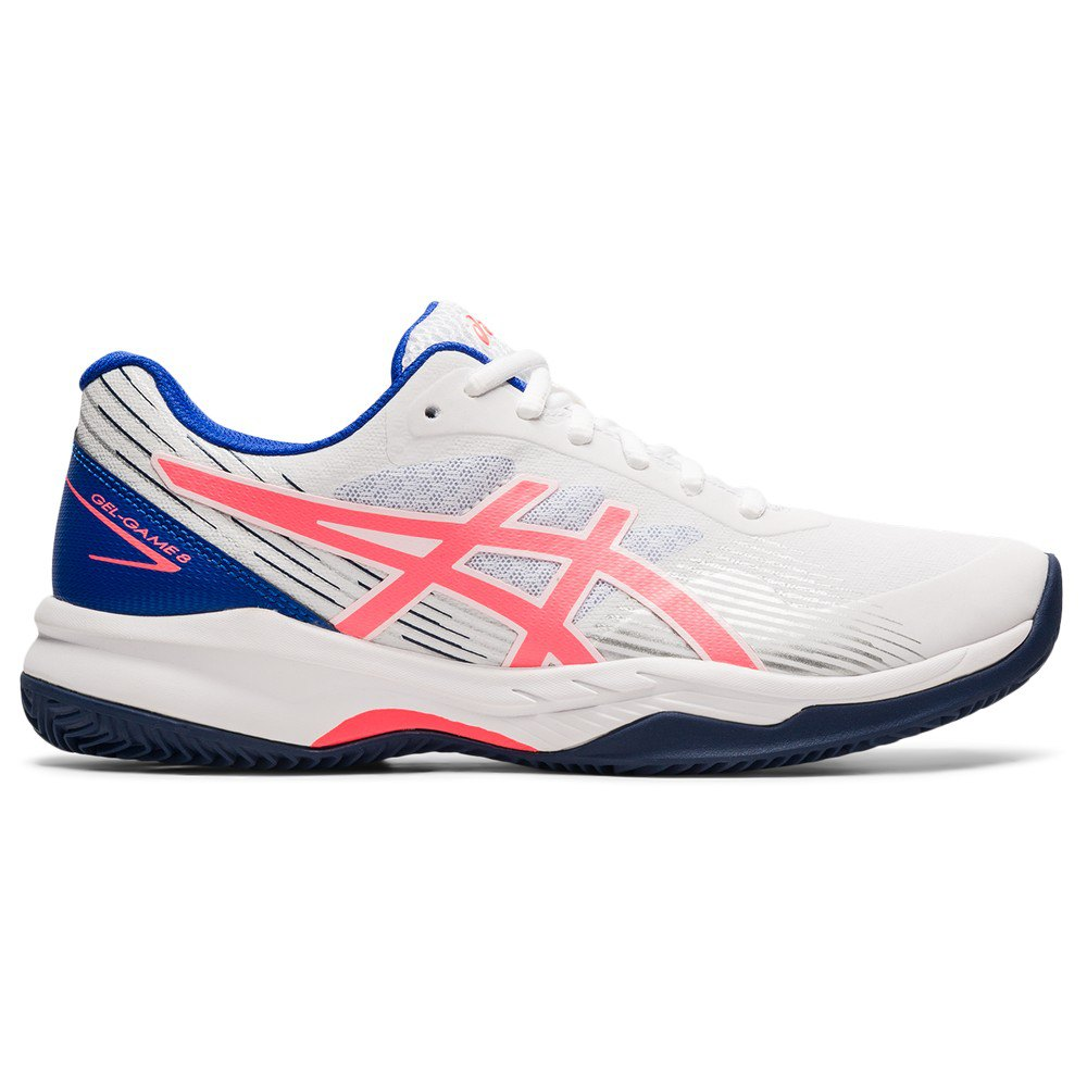 Asics Chaussures Gel-game 8 EU 36 White / Blazing Coral
