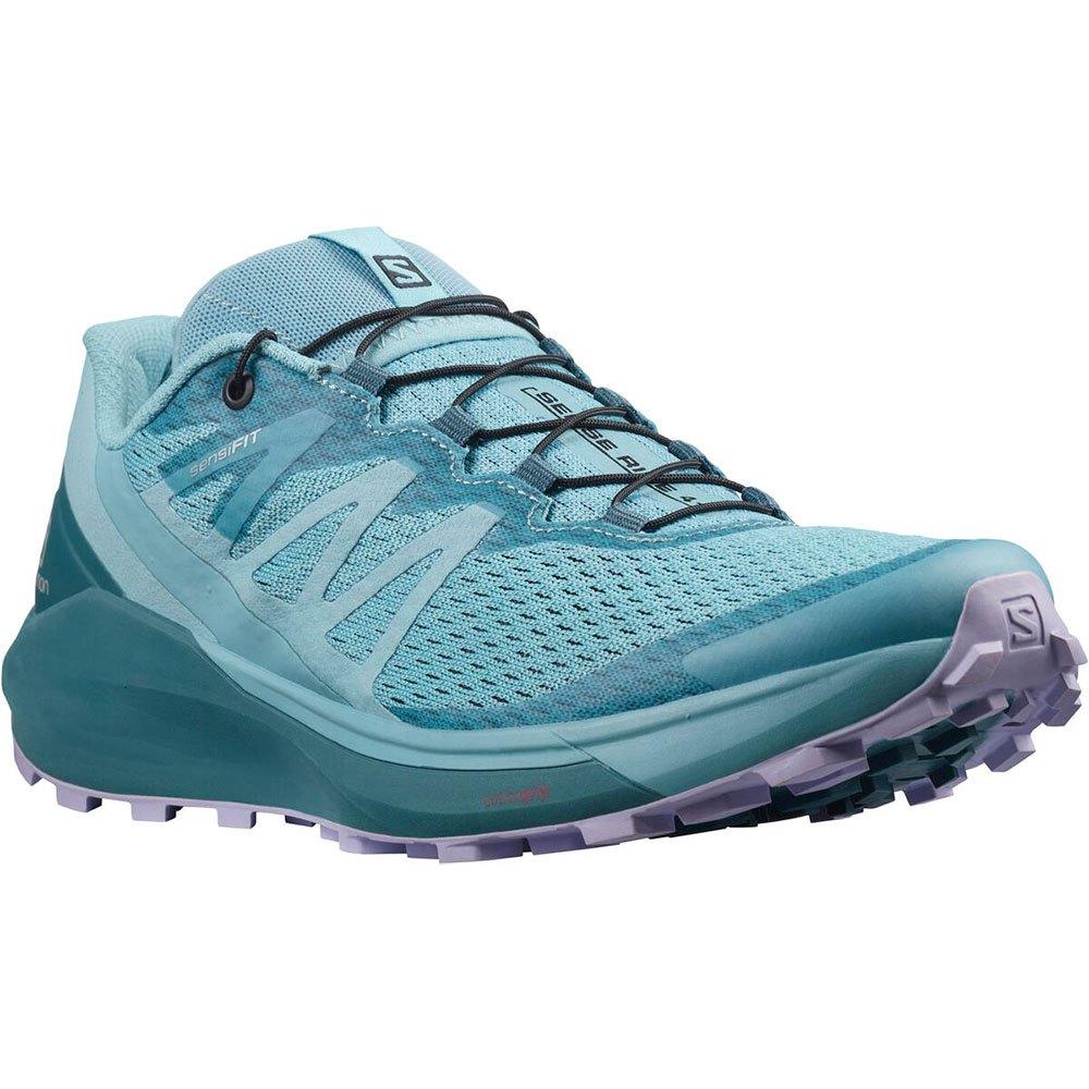Salomon Zapatillas Trail Running Sense Ride 4 Delphinium Blue / Mallard Blue / Lavender
