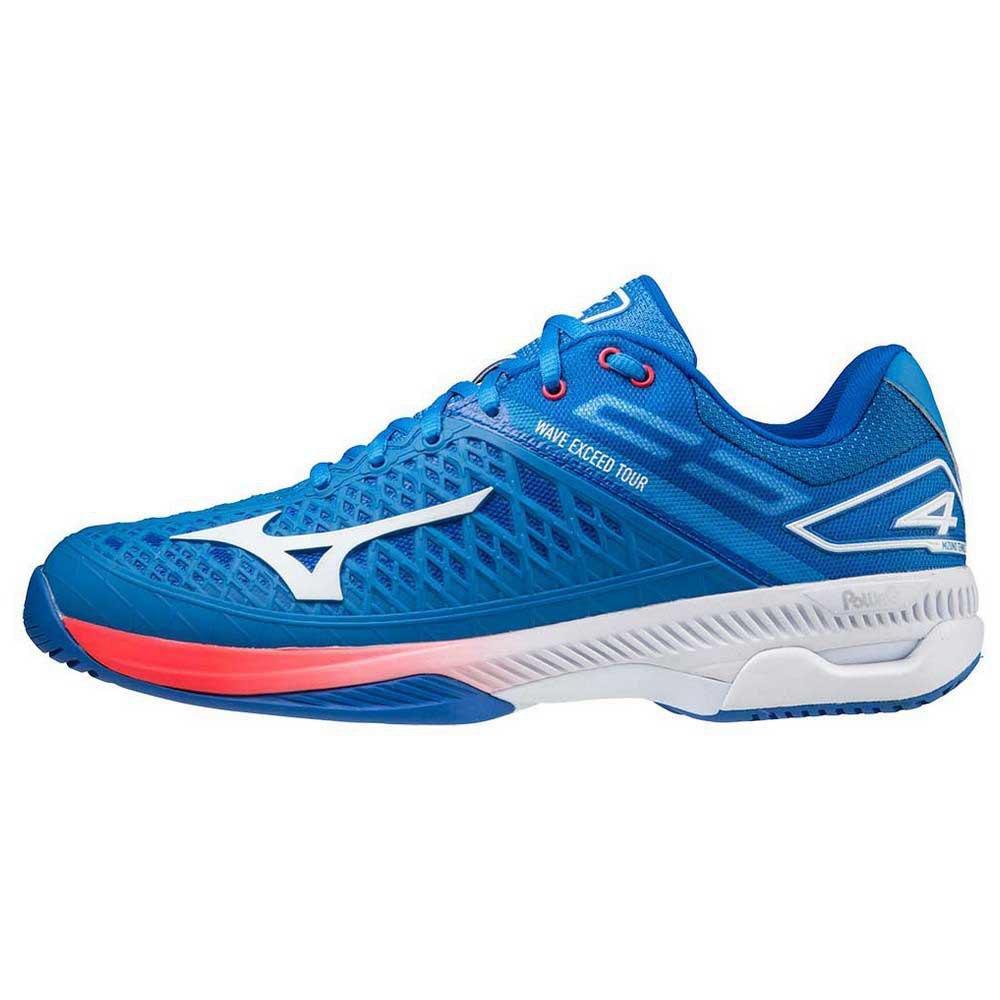 Mizuno Zapatillas Todas Las Superfícies Wave Exceed Tour 4 EU 42 1/2 French Harbor Blue / White / Red