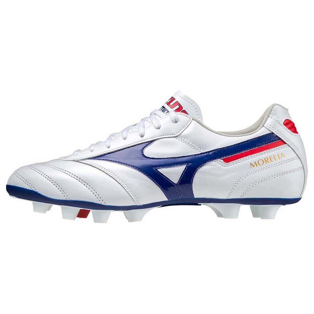 Mizuno Chaussures Football Morelia Ii Elite Md EU 42 White / 280C / High Risk Red
