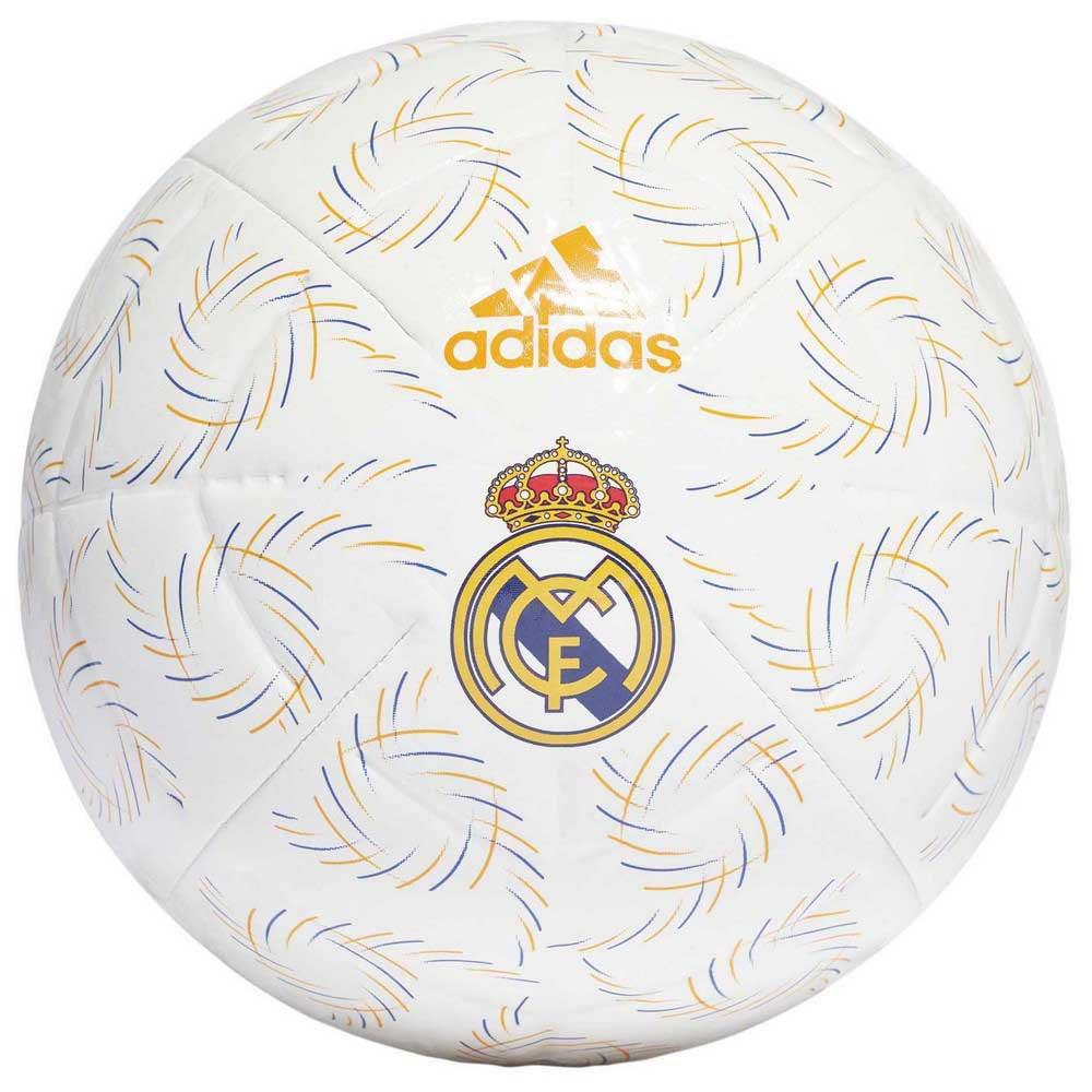 Adidas Ballon Football Real Madrid Club 5 White / Hi-Res Blue S18 / Lucky Orange / Black
