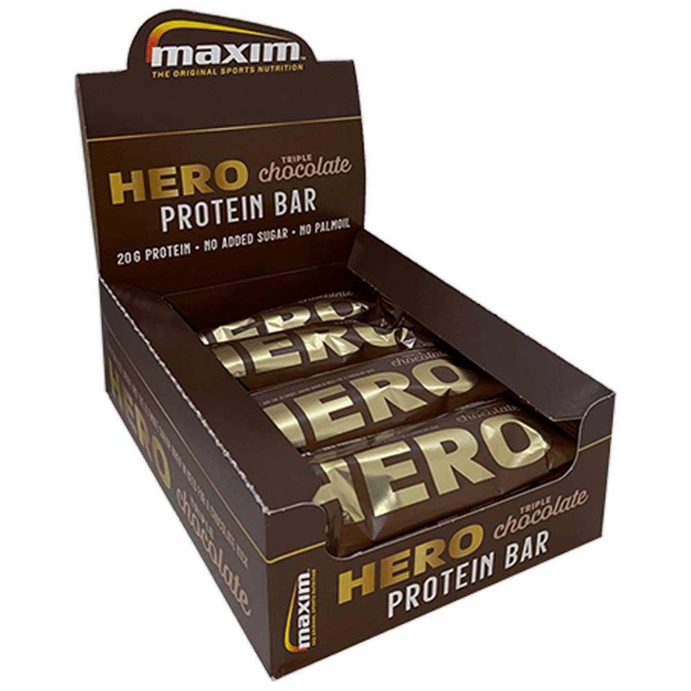 Maxim Bar Protéine Hero 57g 12 Unités Triple Chocolat One Size