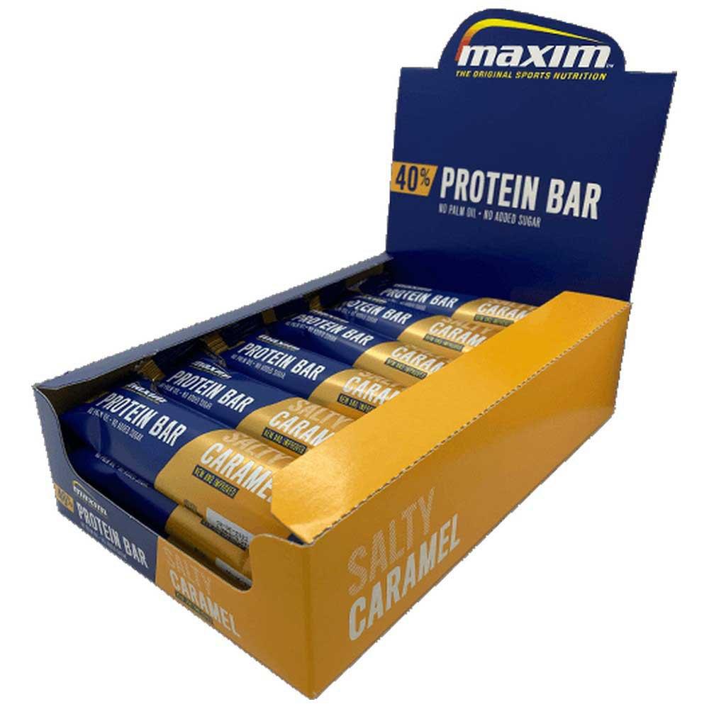Maxim Bar Protéine 50g 18 Unités Caramel Salé One Size
