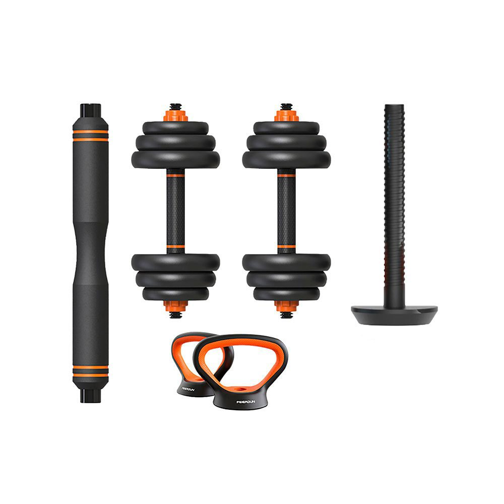 Xiaomi Kit D´haltères+haltères+kettlebells 20 Kg One Size Black / Orange