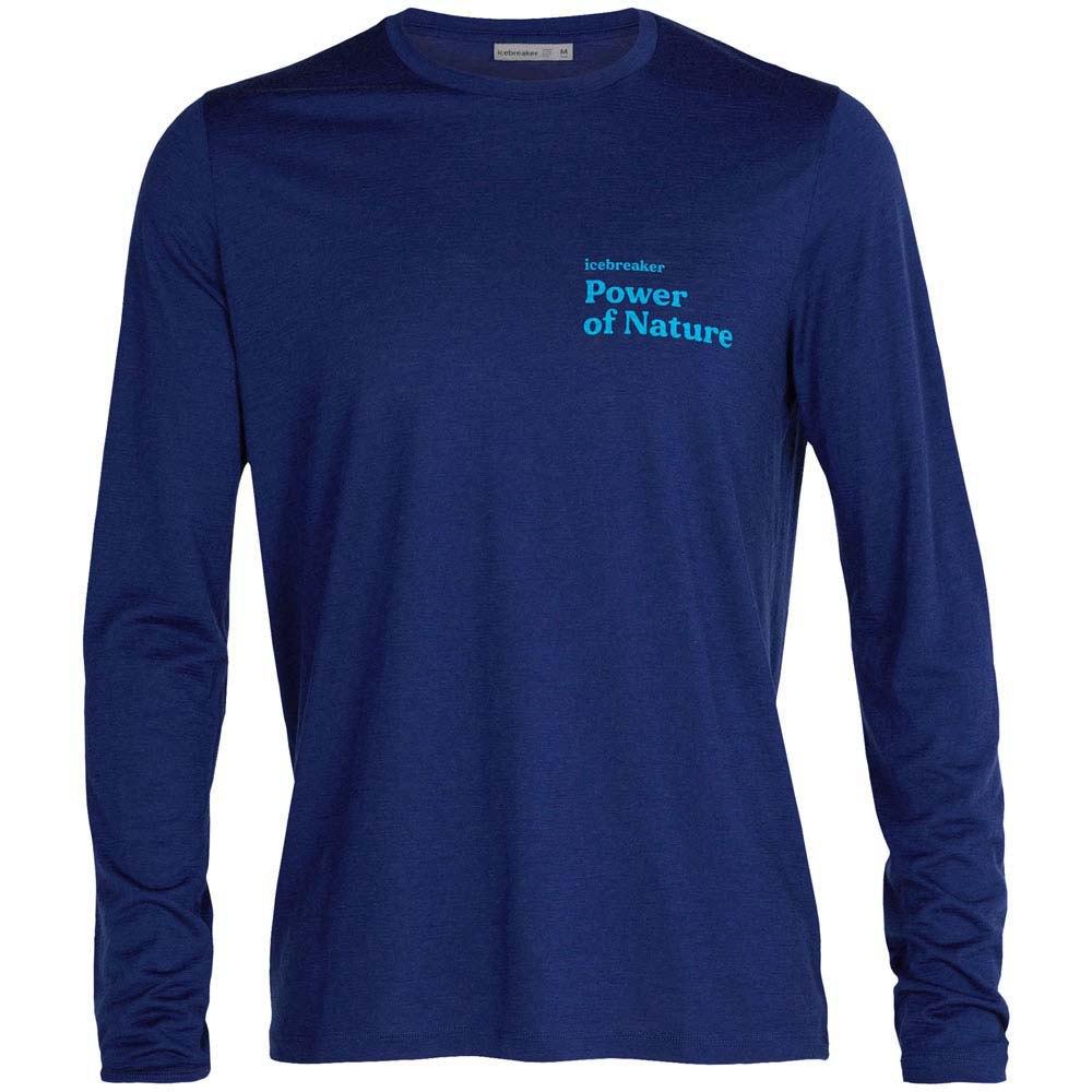 Icebreaker T-shirt Manche Longue Tech Lite Ii Power Of Nature XXL Royal Navy