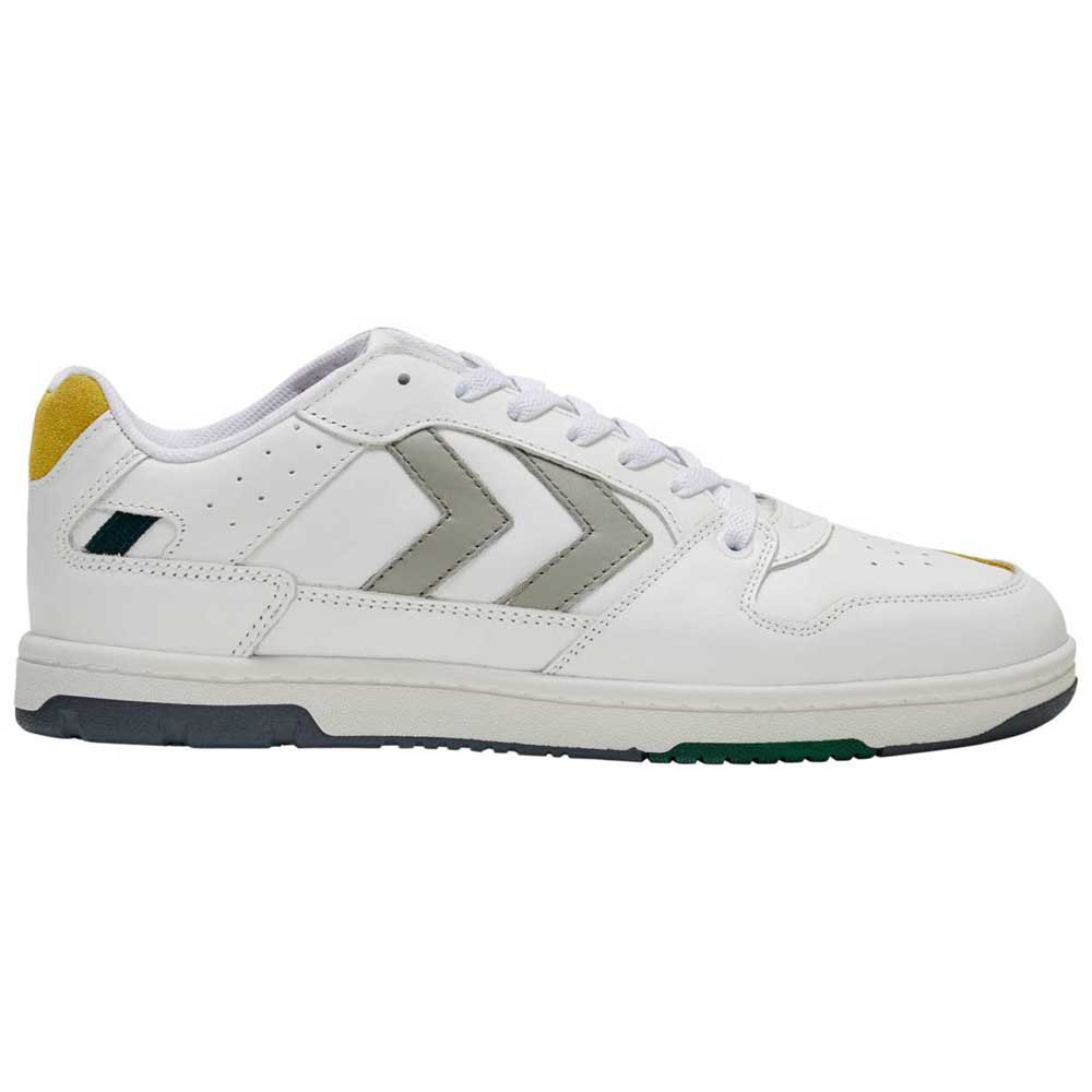 Hummel Chaussures Power Play Leather EU 36 White / Green / Yellow