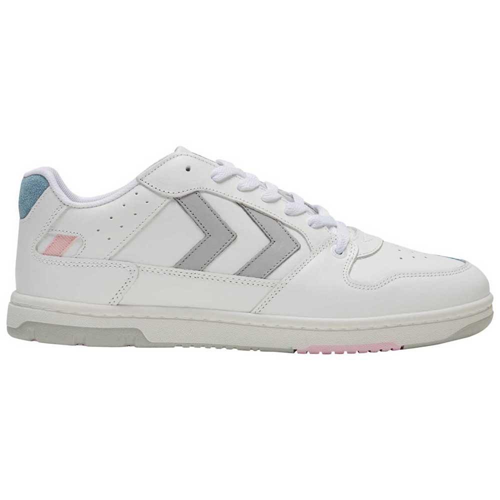 Hummel Chaussures Power Play Leather EU 40 White / Peachy Keen
