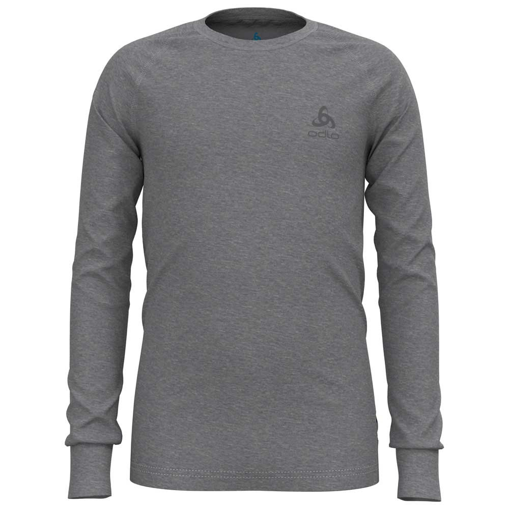 Odlo T-shirt Manche Longue Merino 200 104 cm Grey Melange - Grey Melange