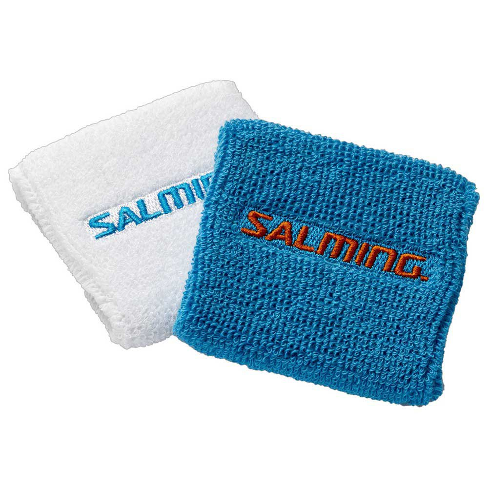 Salming Poignet Court 2 Unités One Size White / Cyan Blue
