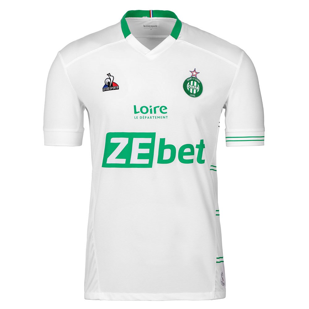 Le Coq Sportif T-shirt As Saint Etienne Extérieur Sponsor L New Optical White