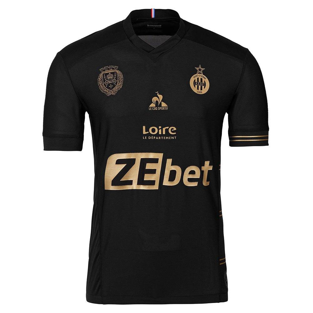 Le Coq Sportif T-shirt As Saint Etienne Match Troisième Sponsor L Black