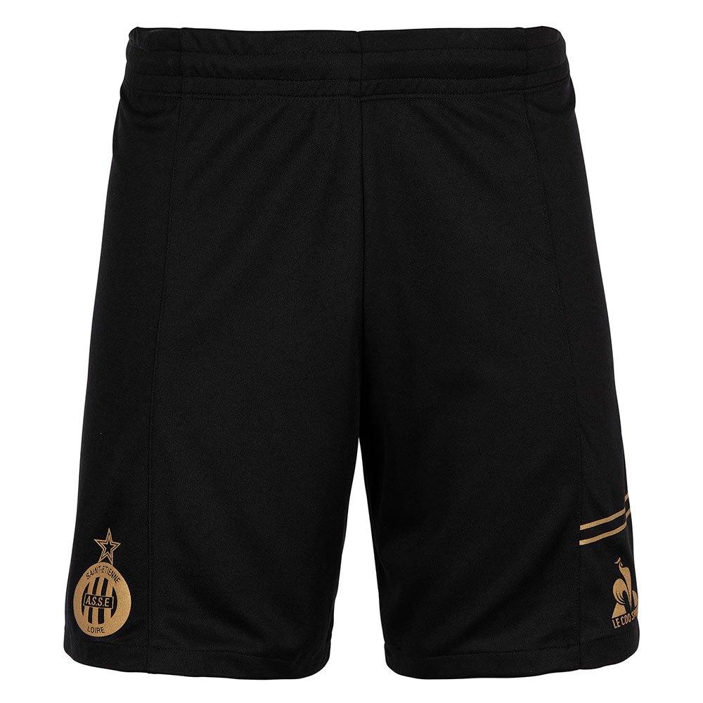 Le Coq Sportif Pantalons Courts As Saint Etienne Troisième L Black