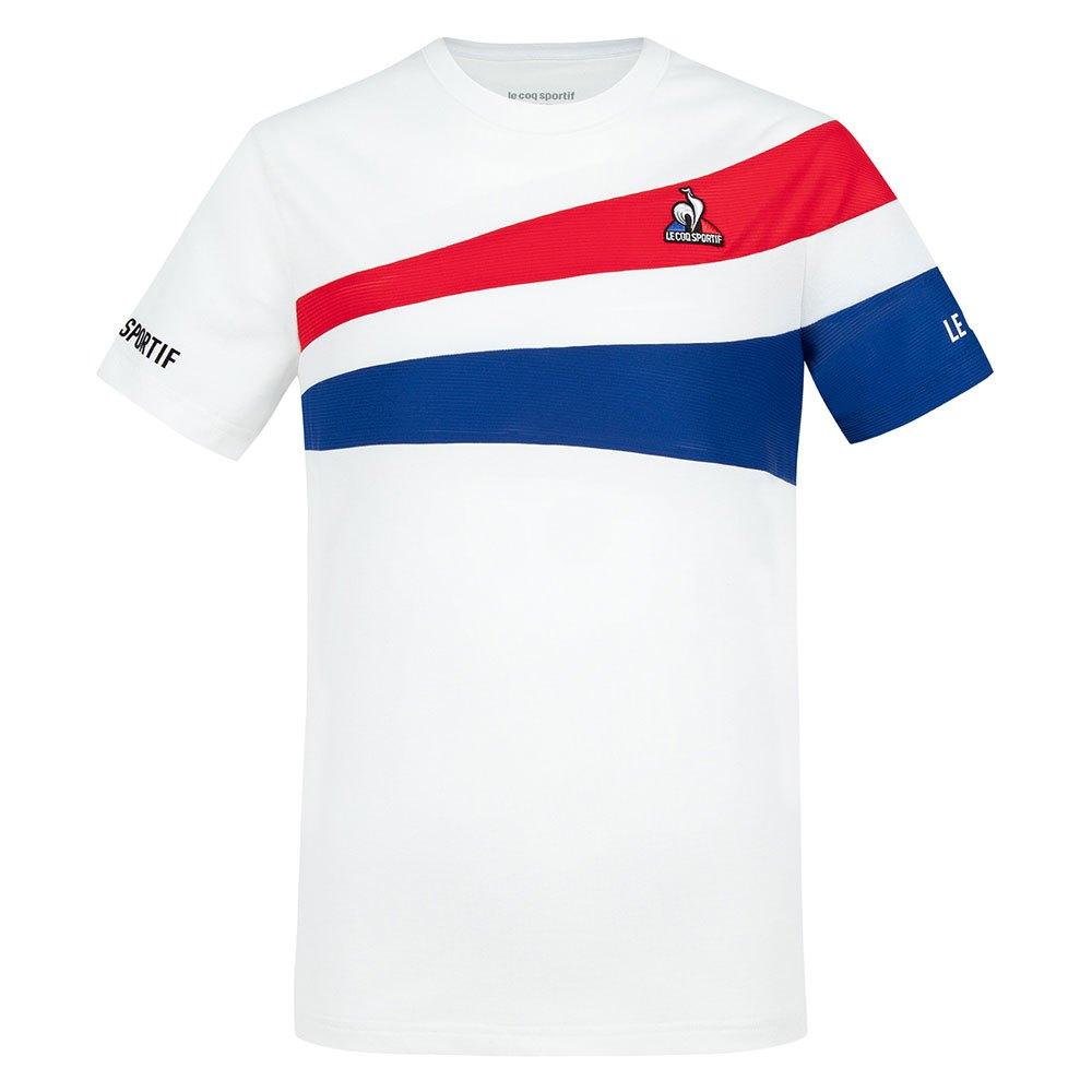 Le Coq Sportif T-shirt Manche Courte Tennis 21 Nº1 14 Years N.O.W / Blue Electro / Red Electro