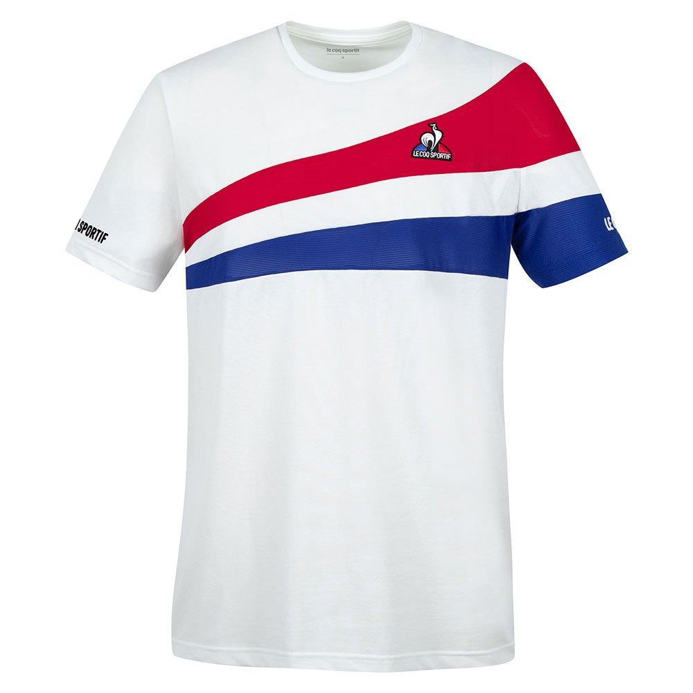 Le Coq Sportif T-shirt Manche Courte Tennis 21 Nº1 L N.O.W / Blue Electro / Red Electro