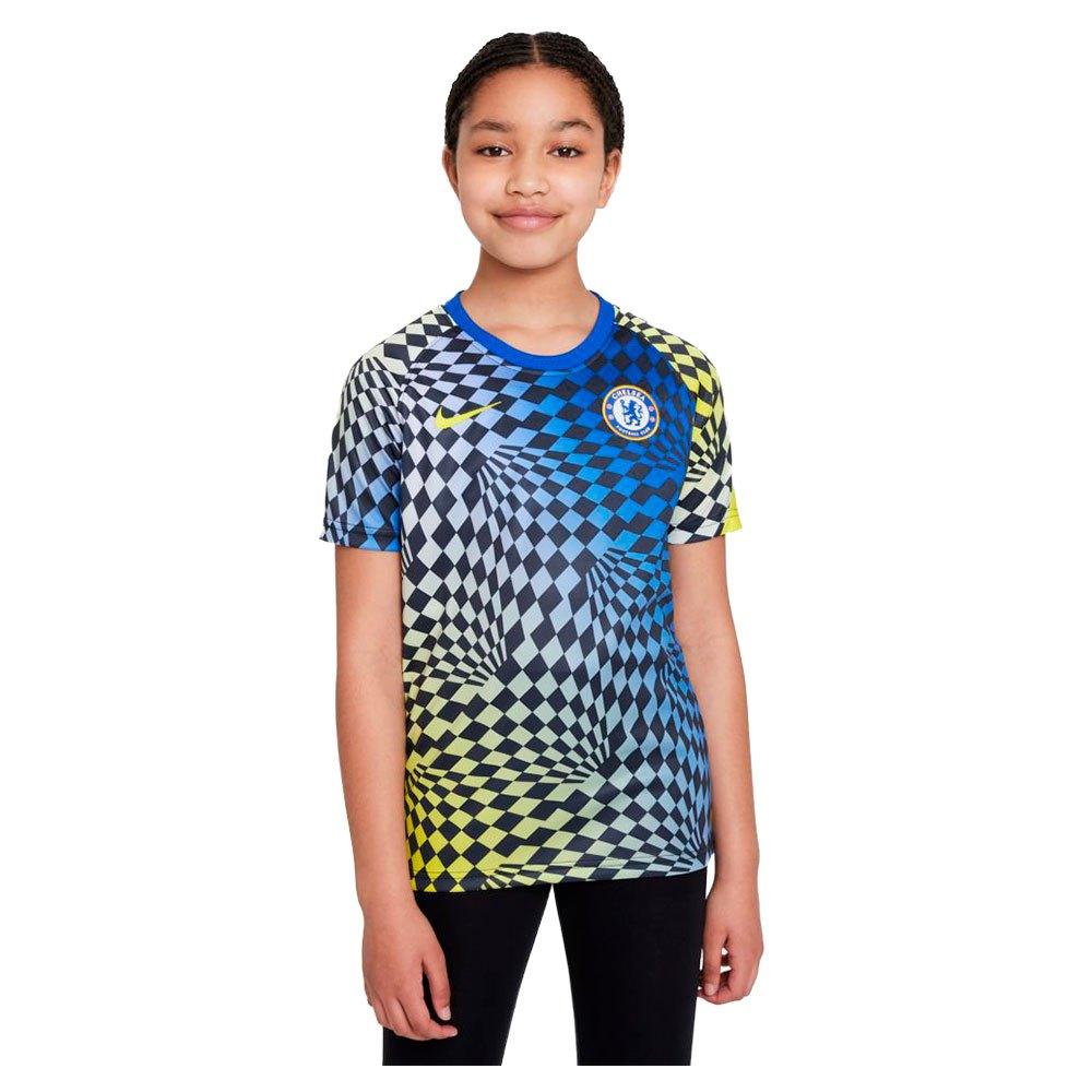 Nike T-shirt Chelsea Fc Avant Match 21/22 Junior S Lyon Blue / Lyon Blue / Opti Yellow