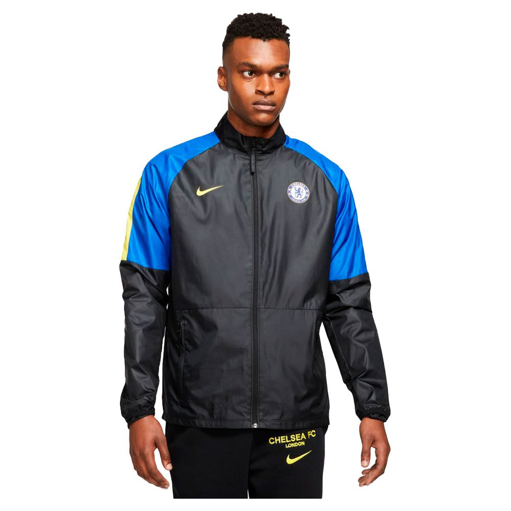 Nike Veste Chelsea Fc Repel Academy 21/22 M Black / Lyon Blue / Opti Yellow / Opti Yellow