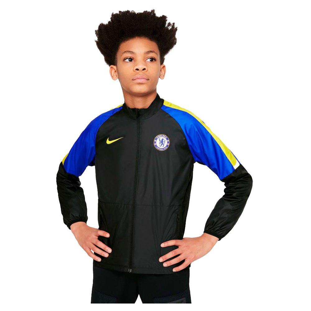 Nike Veste Chelsea Fc Repel Academy 21/22 Junior S Black / Lyon Blue / Opti Yellow / Opti Yellow