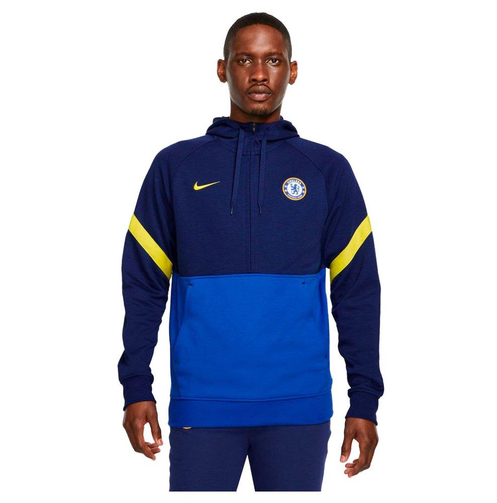 Nike Sweatshirt Chelsea Fc Voyage 21/22 XS Blue Void / Lyon Blue / Opti Yellow