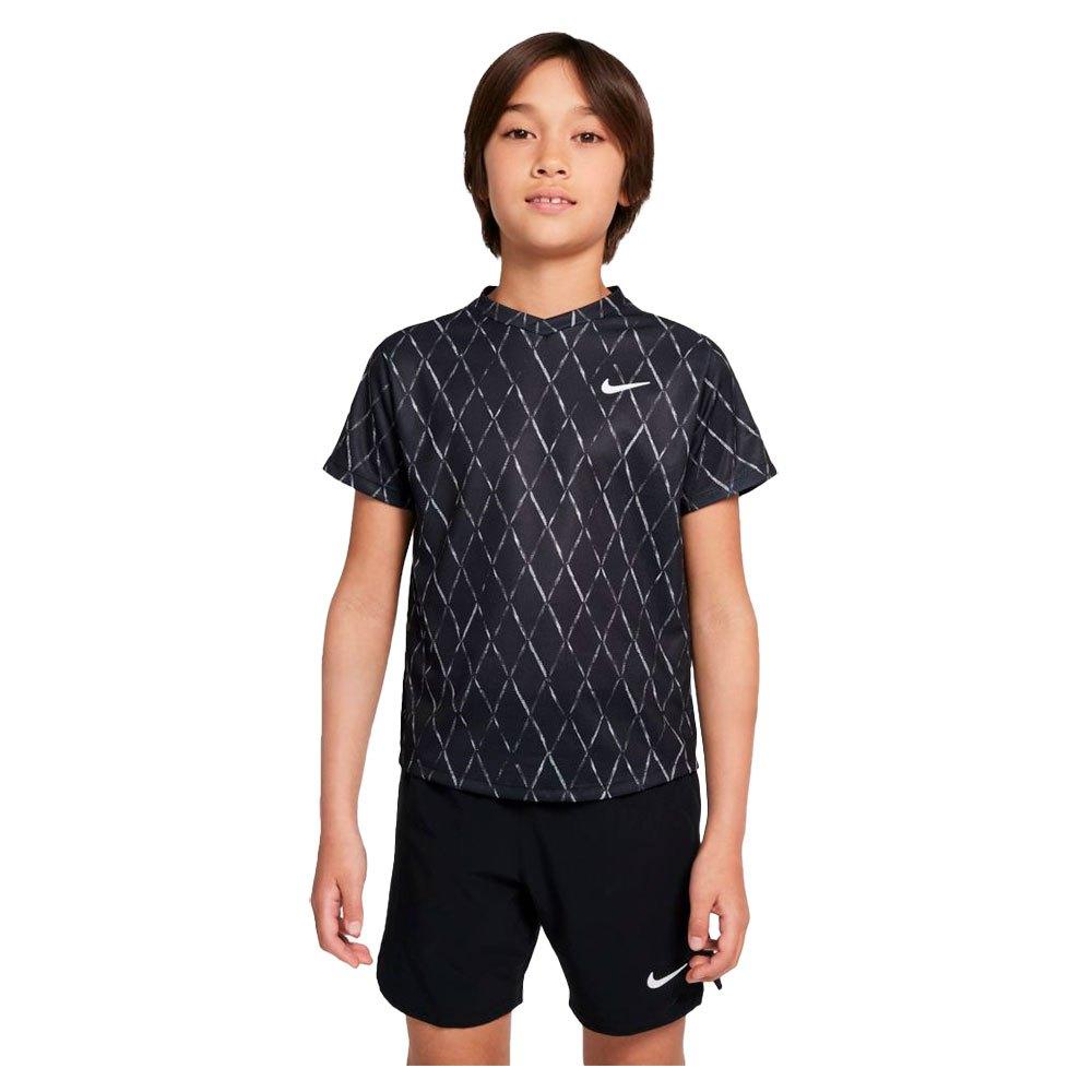 Nike T-shirt Manche Courte Court Dri Fit Victory Printed M Black / White
