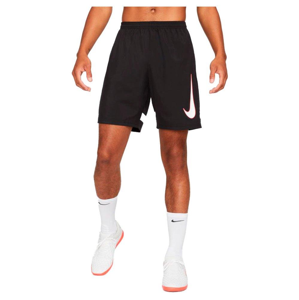 Nike Pantalons Courts Dri Fit Academy Woven S Black / White / Bright Crimson